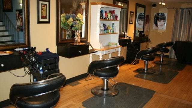 Four chair hair salon aesthetic studio is a business for sale in BC.