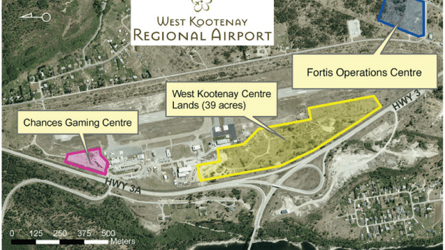Commercial land next to Airport is a business for sale in BC.