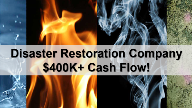 Profitable Disaster Restoration Company is a business for sale in BC.